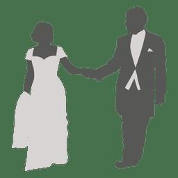 Wedding couple romancing