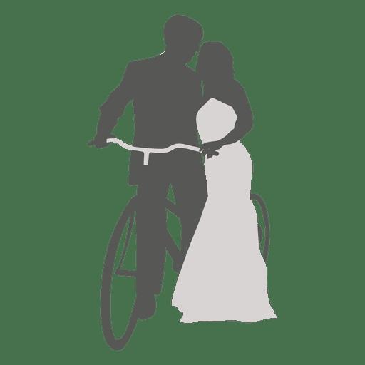 Pareja de novios romancing con bicicleta Transparent PNG