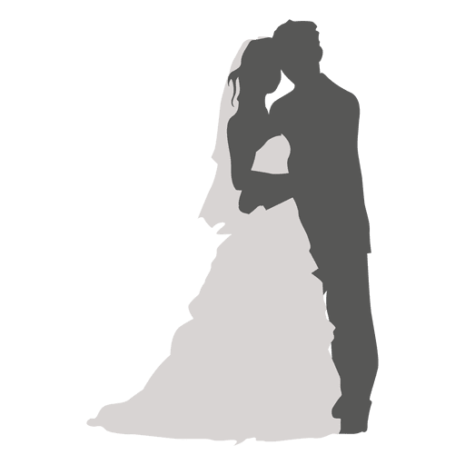 Wedding Png Transparent Free Images: Wedding Couple Silhouette Romancing