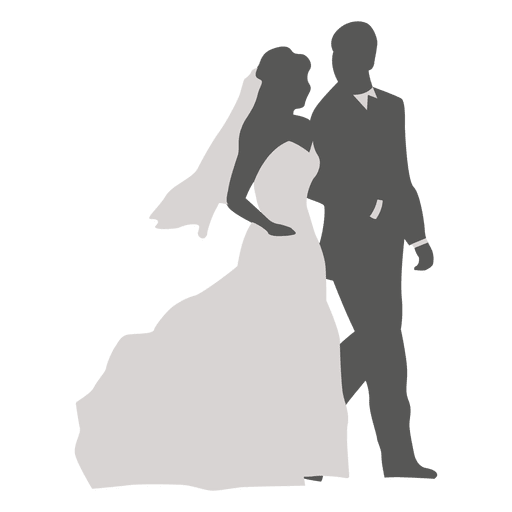 Wedding Couple Clipart Png: Wedding Couple Walking Silhouette 3