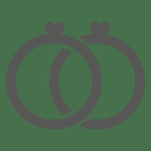 Wedding diamond rings icon Transparent PNG