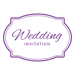 Crachá de convite de casamento