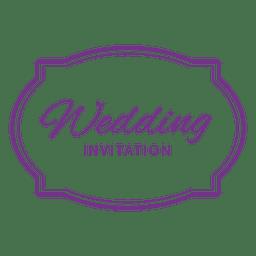 insignia invitación de la boda