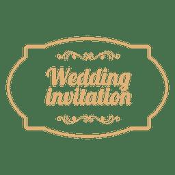 Emblema do convite de casamento 3