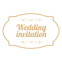 Wedding invitation badge 3