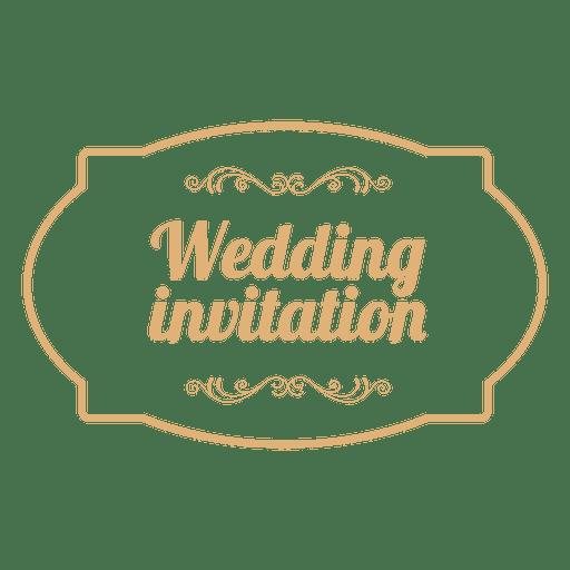 Wedding Invitation Badge 3 Transparent Png Svg Vector