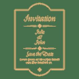 Emblema do convite de casamento 4