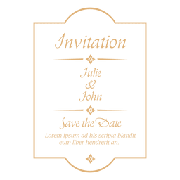 Wedding invitation badge 4