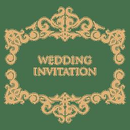 Rótulo de convite de casamento 2