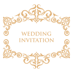 Wedding invitation label 2