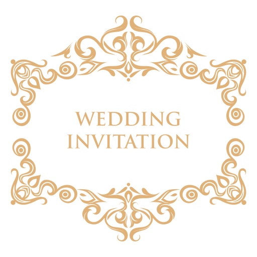 Wedding Invitation Label 2 Transparent PNG