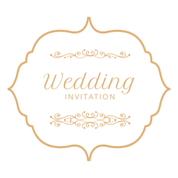 Etiqueta de invitación de boda 3