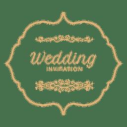 Rótulo de convite de casamento 3