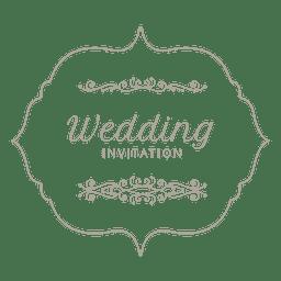 Wedding invitation label 8
