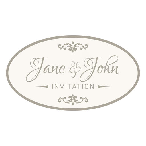 Wedding invitation round badge 6 transparent png svg vector wedding invitation round badge 6 transparent png stopboris Image collections