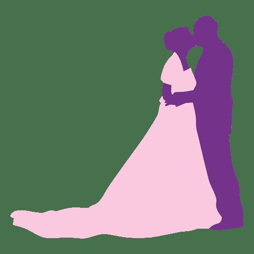 Beso de boda silueta 2 Transparent PNG