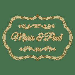 Etiqueta de la boda decoración 3
