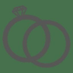 Icono de anillo de bodas