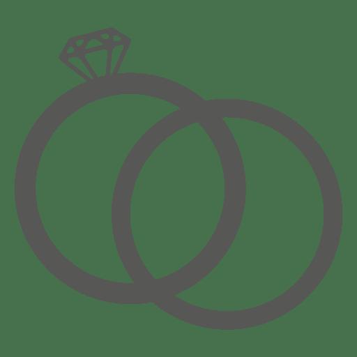 Ícone de aliança de casamento