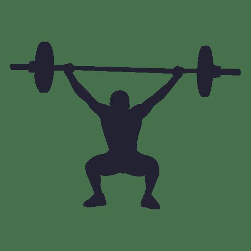 Silueta de levantamiento de pesas 1