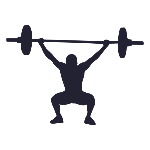 Weight lifting silhouette 1