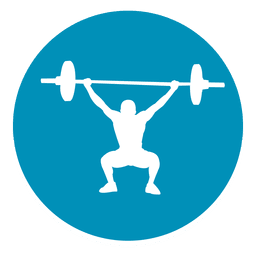 Weightlifting circle icon