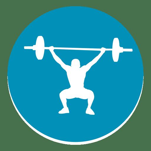 Icono de c?rculo de levantamiento de pesas