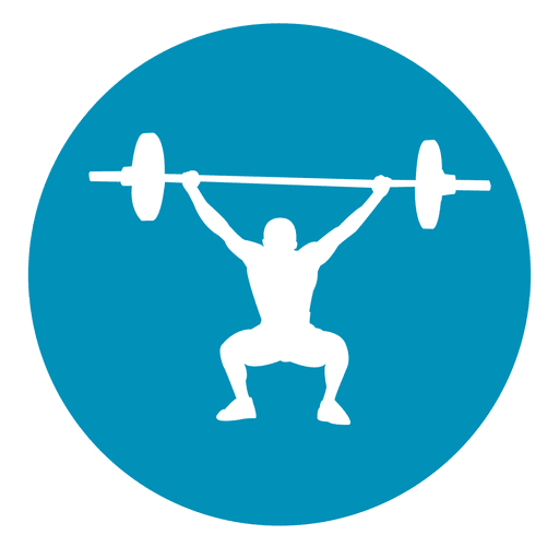 Weightlifting circle icon Transparent PNG