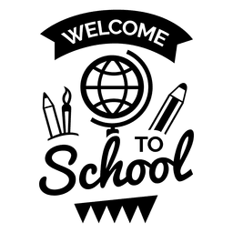 Welcome to school emblem