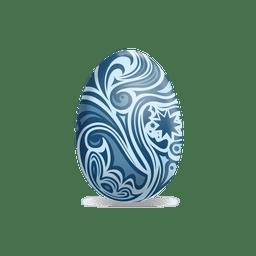 White flower easter egg 1
