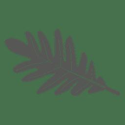 Estilo de línea de hoja de roble blanco