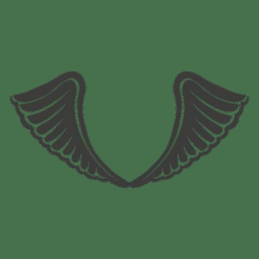 Wide phoenix wings decoration 2 Transparent PNG