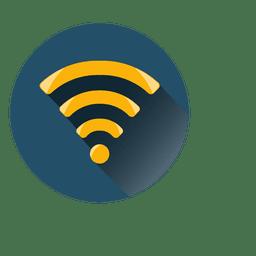 Icono de círculo wifi