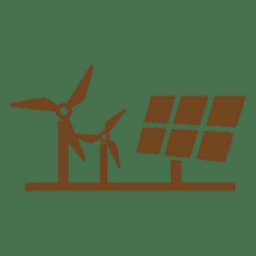Panel solar molinos de viento Transparent PNG