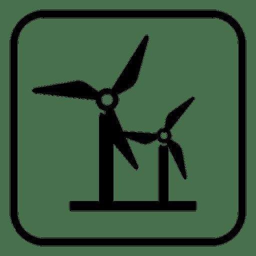 Icono cuadrado de molinos de viento Transparent PNG
