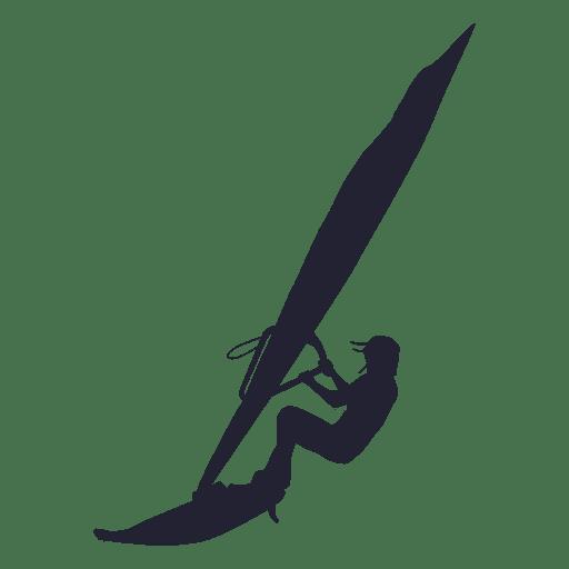 Silhueta de esporte windsurf Transparent PNG
