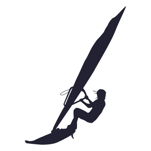 Windsurfing sport silhouette Transparent PNG