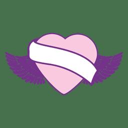 Cinta de corazón con alas