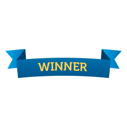 Winner ribbon badge
