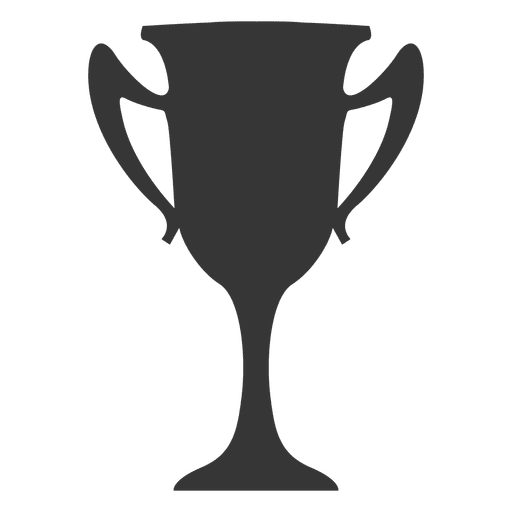 Boxing winner silhouette