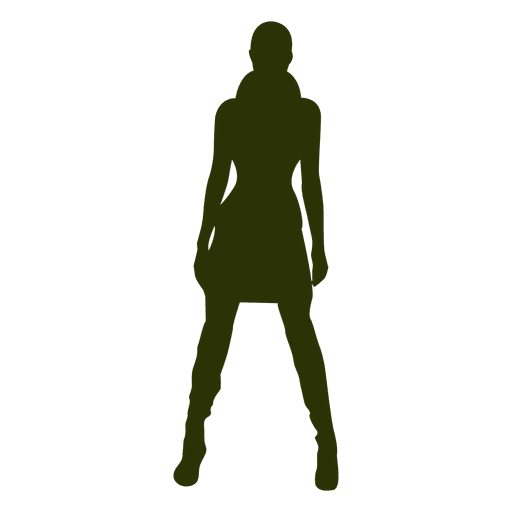 Winter fashion girl silhouette Transparent PNG