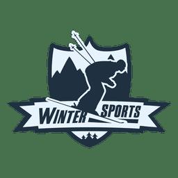 etiqueta de los deportes de invierno