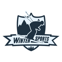 Winter sports label