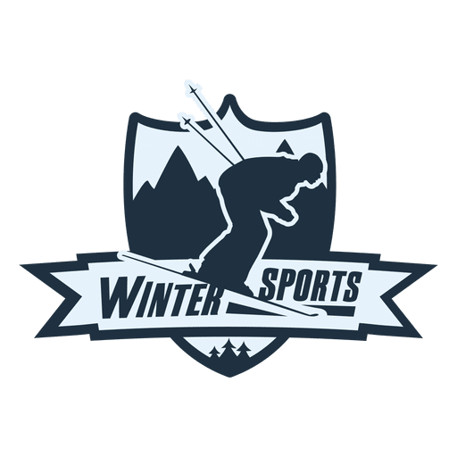 Winter sports label Transparent PNG