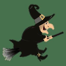 Hexe auf Besen 3