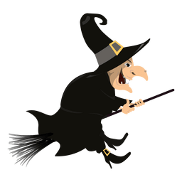 Witch on broom 3