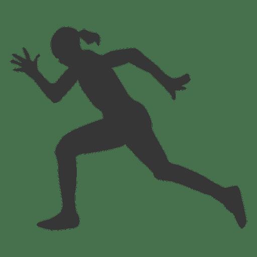 Silueta de mujer atleta