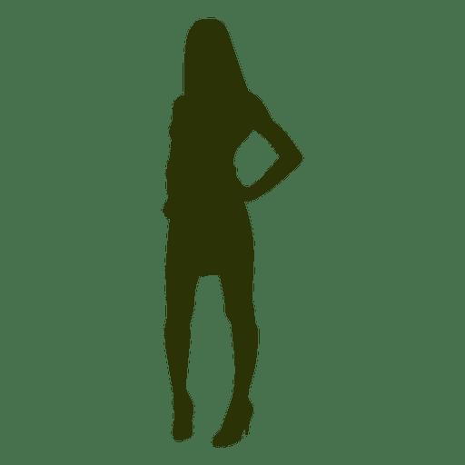 Woman fashion silhouette