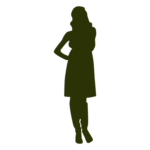 Woman fashion silhouette 1 Transparent PNG