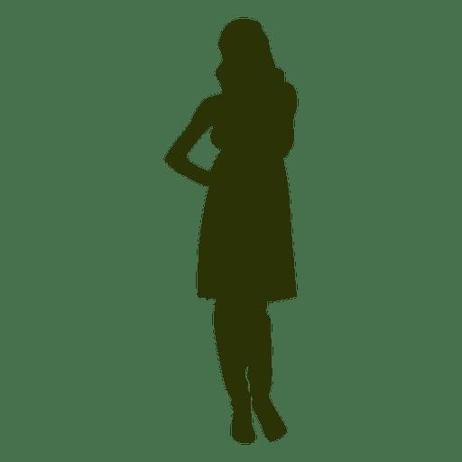 Woman fashion silhouette 1